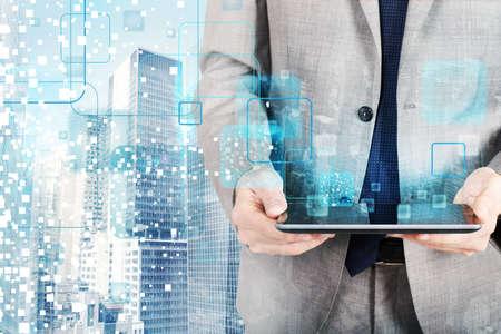 technologie: La technologie qui se développe dans l'avenir Banque d'images
