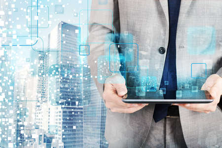 people development: The technology that develops in the future Stock Photo