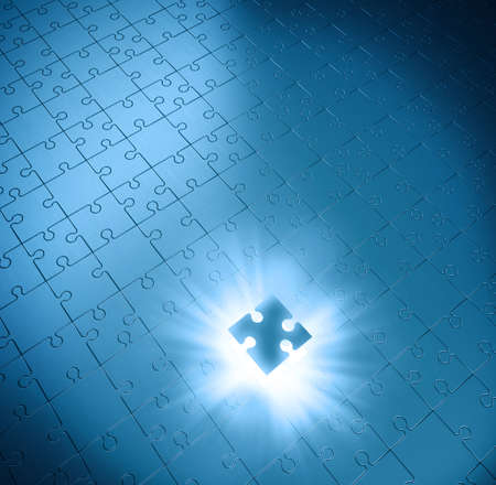 oneness: Missing piece of the puzzle of success Stock Photo