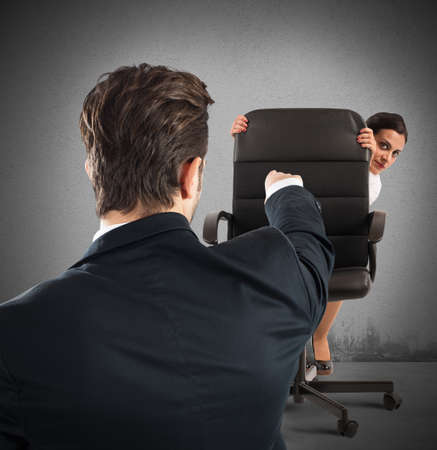 injustice: Boss chides an employee who tries hide