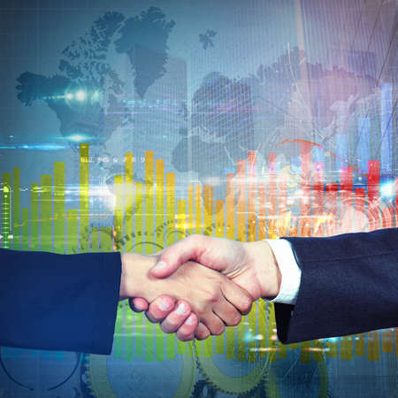 reached: Handshake symbol of an business agreement reached