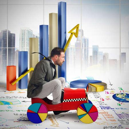 estadisticas: Empresario de conducci�n entre los diagramas de crecimiento y estad�sticas