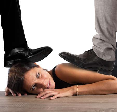 dominacion: Empresaria explotado por su jefe en la oficina