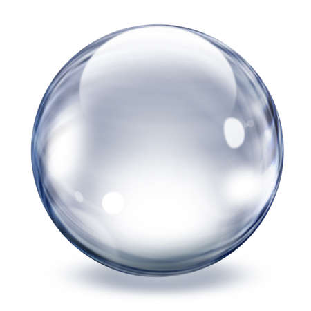 orbs: Image of a big transparent crystal bubble Stock Photo