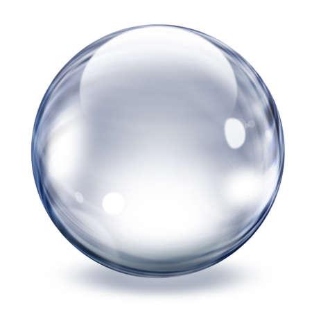 burbujas jabon: Imagen de una gran burbuja de cristal transparente Foto de archivo