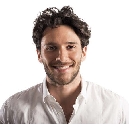 semblance: Portrait of a businessman smiling and happy Archivio Fotografico