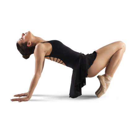 neocl�sico: Bailar�n neocl�sico y contempor�neo que presenta en pointe Foto de archivo