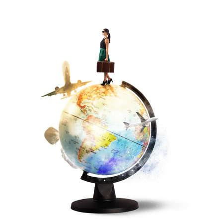 세계 주위를 선회의 여행자의 꿈
