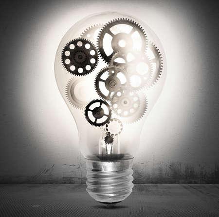 Big bulb light with mechanisms and gear