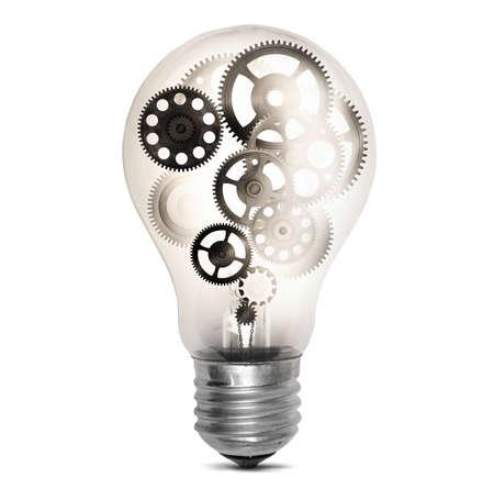 mechanisms: Big bulb light with mechanisms and gear