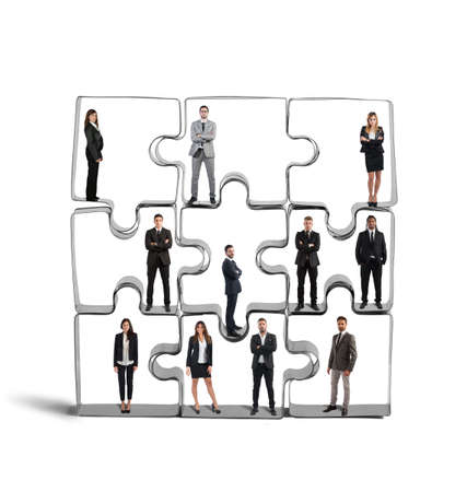 merging: Cooperation and integration for a successful team Stock Photo