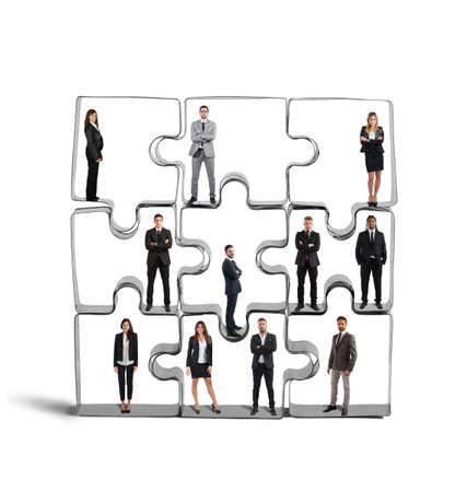 koncepció: Együttműködés és integráció egy sikeres csapat Stock fotó