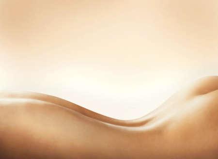 naked woman back: Der K�rper einer nackten Frau zur�ck Lizenzfreie Bilder