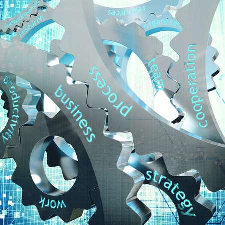 sistemas: Concepto de trabajo conjunto entre el engranaje
