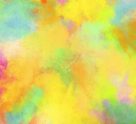 Background of explosion colored powders and glittering Stock Photo