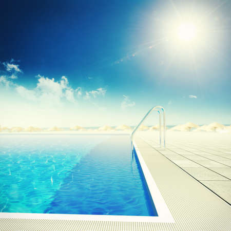 luxurious: Image of swimming pool of a resort