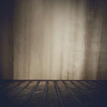 abandoned room: Background of grunge old abandoned indoor room