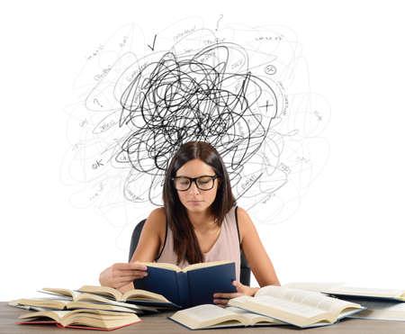studie: Student s pochybnostmi a mezer ve věcech Reklamní fotografie