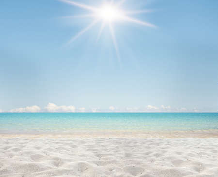Background of white sand and clear sea