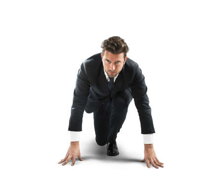 challenge: Businessman at the beginning of new challenge