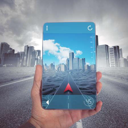 Dosáhnout správné místo s GPS Navigator Reklamní fotografie