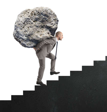 financial burden: Difficult career with great effort and determination