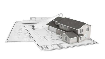 dibujo tecnico: Plástico y el proyecto de la casa en el papel