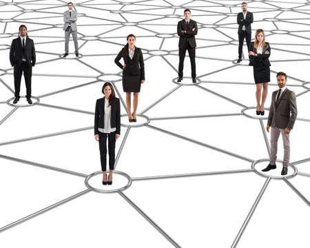 communication: Sur les réseaux sociaux futurs sont tous connectés Banque d'images