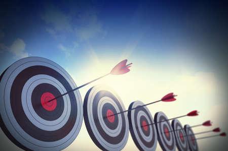 ottimo: Obiettivi colpito al centro da frecce