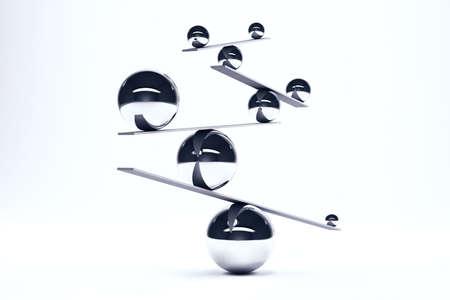 보드의 완벽한 균형 철 공 스톡 콘텐츠