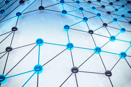 Concept de sphères d'interconnexion relié l'autre Banque d'images