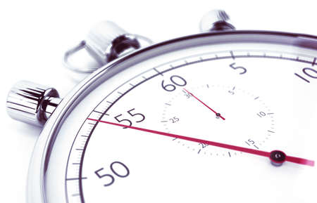 Image of stopwatch that measures the time Stock Photo