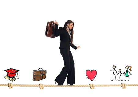 Stages of work and life of businesswoman Stok Fotoğraf
