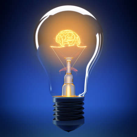 creativeness: Bulb filament that forms a small brain