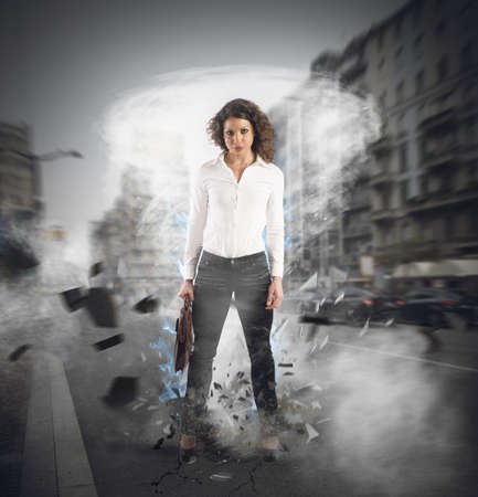 invincible: Businesswoman at the center of a hurricane