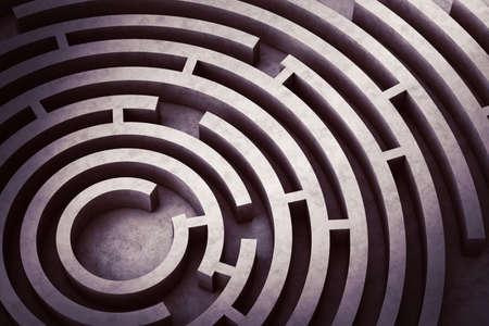 Image from above of a circular maze Reklamní fotografie - 47925689