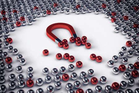 Big Magnet zieht nur die roten Kugeln