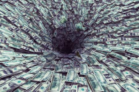 Big black hole that sucks much money Stok Fotoğraf - 47939278