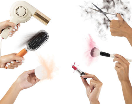 make up: Styling tools for make up and hair