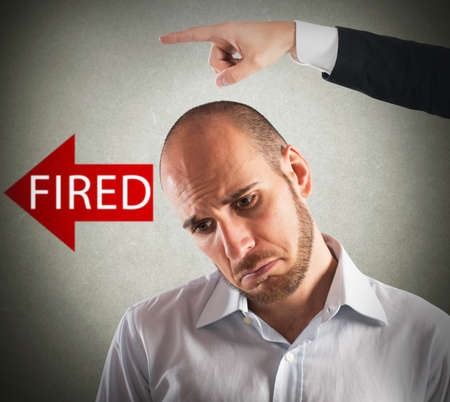 Boss dismisses his sad employee from office