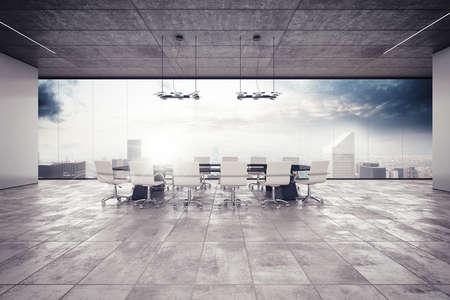 La sala de reuniones en un edificio de lujo
