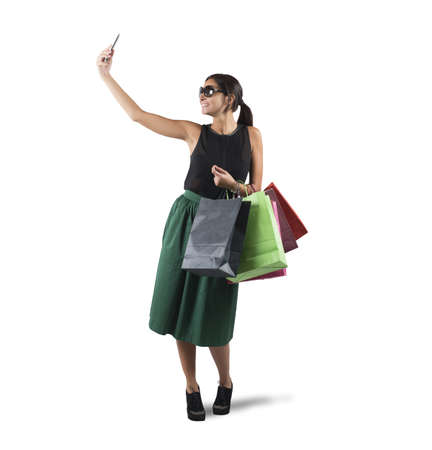 gets: Girl gets a selfie with her purchases