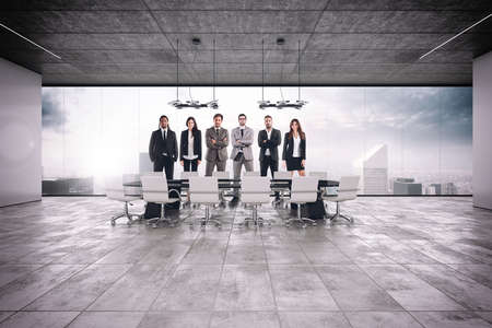 interiors: Successful business teamwork in the meeting room