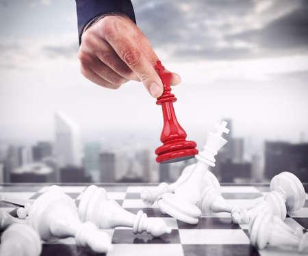Peón de ajedrez gotas rojas los peones blancos
