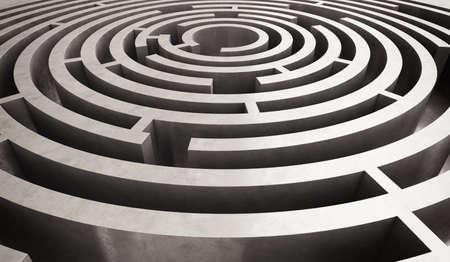 interrogative: Imagen de dif�cil laberinto circular para resolver