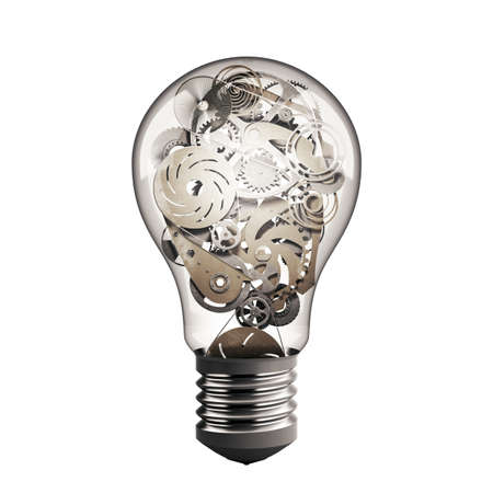 intelligent solutions: Bulb light with system of mechanical gears