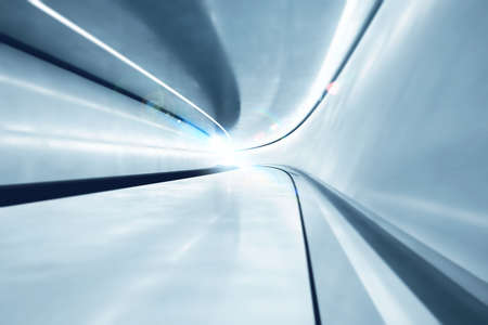 tunnel vision: Background of futuristic big tunnel with lights