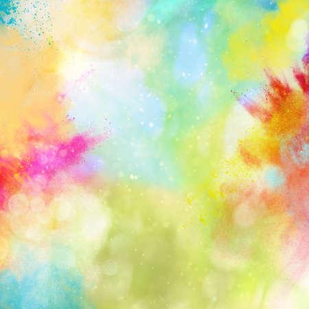 Tło wybuchu błyszczącymi kolorowymi proszkami