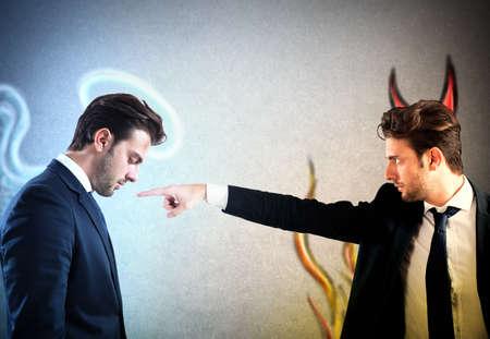 Man as devil accuses man as Angel