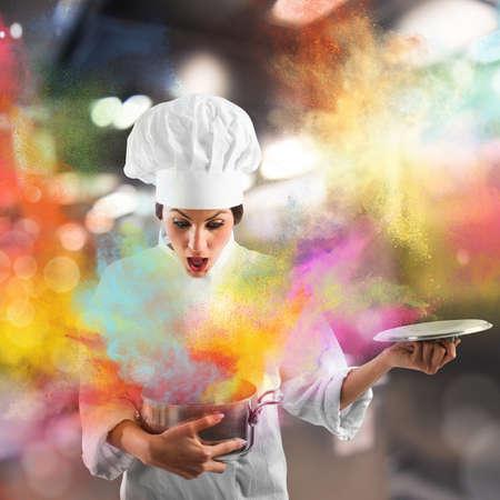 staub: Erstaunlich Explosion von Farben aus einem Topf